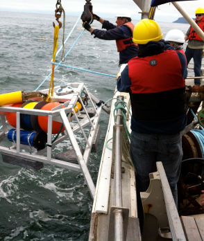 Lowering sensing instrument to FORCE seabed